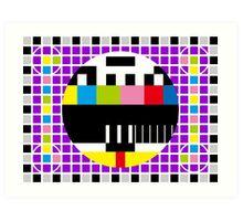 TV Signal Art Print