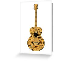 Guitar and Music Notes 4 Greeting Card