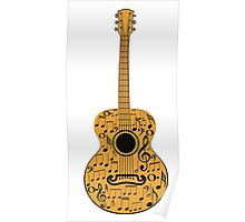 Guitar and Music Notes 4 Poster
