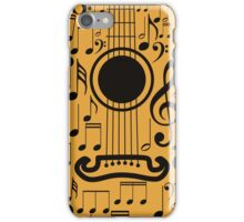 Guitar and Music Notes 4 iPhone Case/Skin