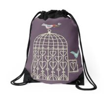 Leaving the Birdcage Drawstring Bag