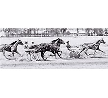 Crazy horse racing Photographic Print