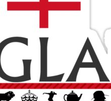 England icons- gray Sticker