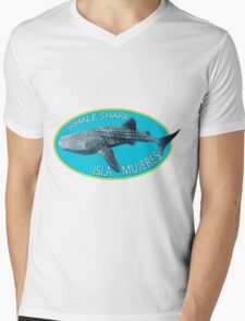 Swim with WHALE SHARKS on ISLA MUJERES Mens V-Neck T-Shirt