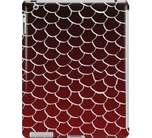 Red and Black Scales iPad Case/Skin