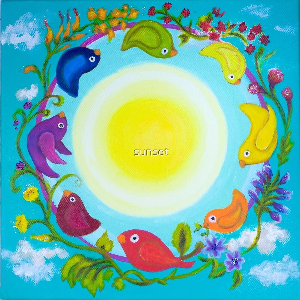 Rainbow Circle Flourishes by Sam Van