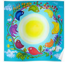 Rainbow Circle Flourishes Poster