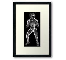 Eren Titan Form Framed Print