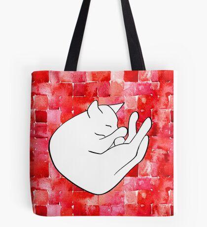 Snoozing cat Tote Bag
