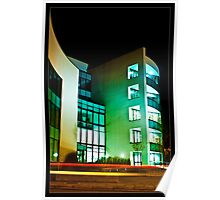 Office Block and Light Trails Poster