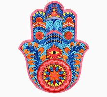 Hamsa Hand Watercolor Womens Fitted T-Shirt