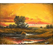 Sunset in Delta Photographic Print