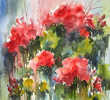Red Geraniums by bevmorgan