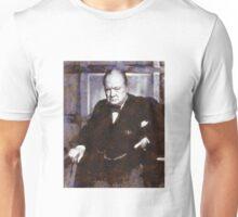 Prime Minister, Winston Churchill by John Springfield Unisex T-Shirt