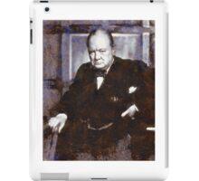 Prime Minister, Winston Churchill by John Springfield iPad Case/Skin
