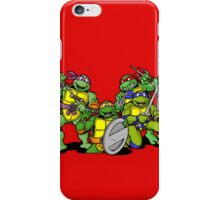 All the ninja turtles together iPhone Case/Skin