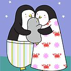 Penguin Family Card  by zoel