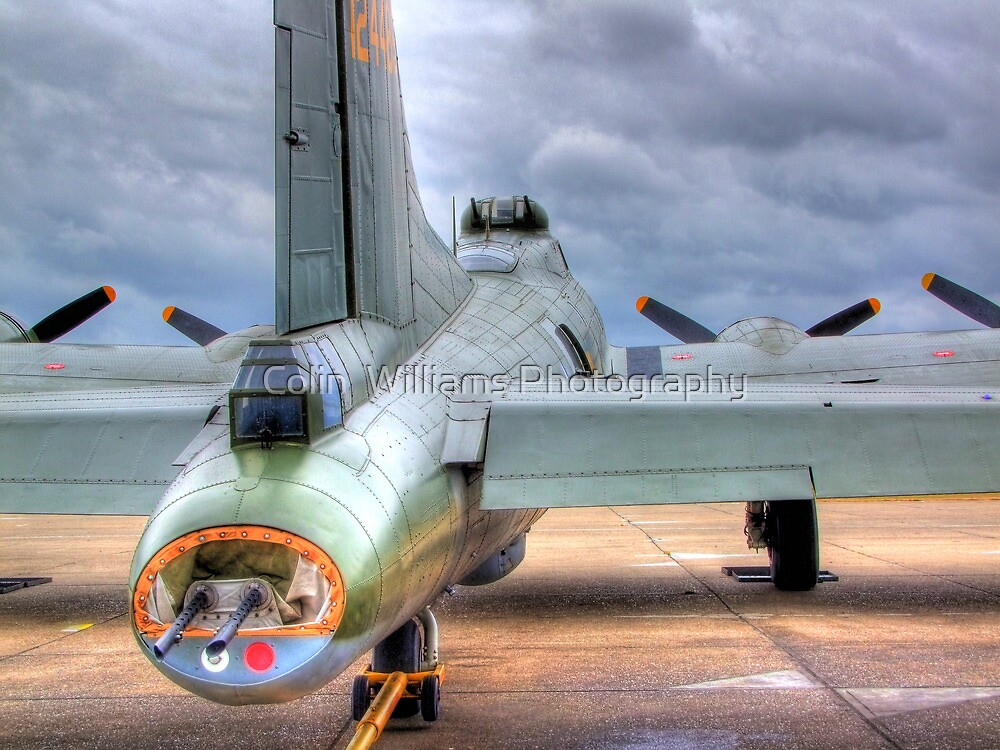 B-17 Flying Fortress G-BEDF Sally B - HDR by Colin  Williams Photography