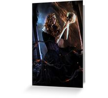 Black Widow Cordelia Greeting Card