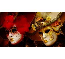 Venetian Masks Photographic Print
