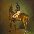 Racehorse with Jockey by Birgit Schnapp