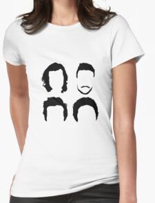 One Direction Hair Silhouette (no text) Womens Fitted T-Shirt