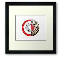 Captain America/Winter Soldier Shield Framed Print