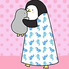 Mother and Baby Penguin Card by zoel