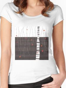the last of the leaves Women's Fitted Scoop T-Shirt