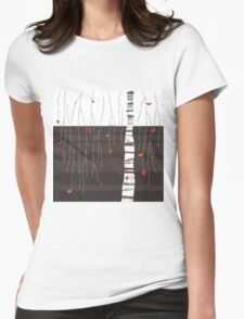the last of the leaves Womens Fitted T-Shirt