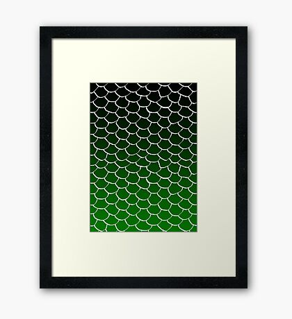 Green and Black Scales Framed Print