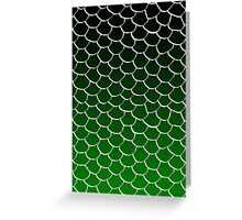 Green and Black Scales Greeting Card
