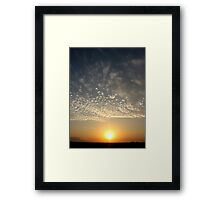 Nazca Sunset Framed Print