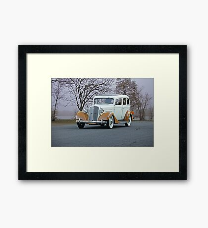 1935 Chevrolet Master Deluxe Sedan Framed Print