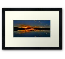 Welcome To My Morning - Narrabeen Lakes, Sydney (15 Exposure HDR Panorama) - The HDR Experience Framed Print