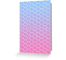 Cotton Candy Scales Greeting Card
