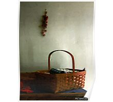 Sewing Basket in Sunlight Poster