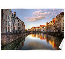 Postcard from Bruges, Belgium Poster