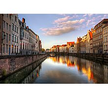 Postcard from Bruges, Belgium Photographic Print