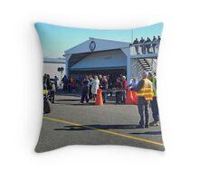 Spectators at Hangar 19 Throw Pillow