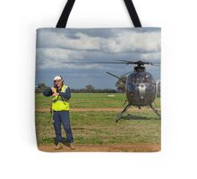 Ground Controller & Hughes 500 Helicopter Tote Bag