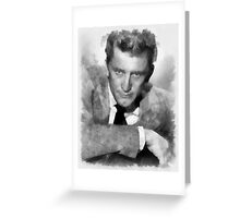 Kirk Douglas Actor by John Springfield Greeting Card