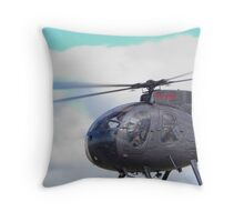 Eyefull of Helicopter Throw Pillow