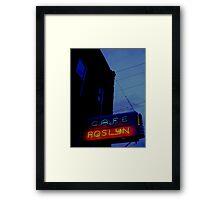Cafe Roslyn Framed Print