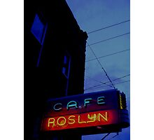 Cafe Roslyn Photographic Print