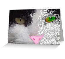 Digital Cat Greeting Card