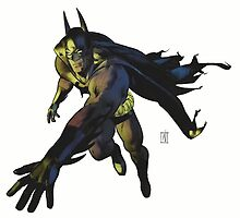 Batman Running by Dru Woodard