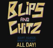 Blips and Chitz Il (text) by coolshirts