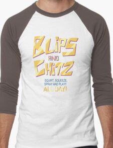 Blips and Chitz Il (text) Men's Baseball ¾ T-Shirt