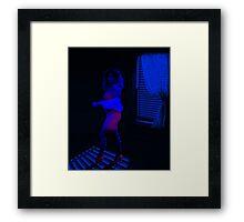 blue pink noir Framed Print